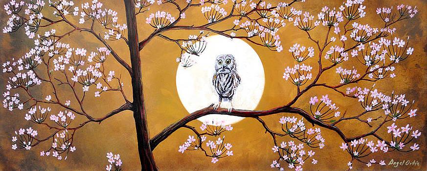Buhito en sakura by Angel Ortiz