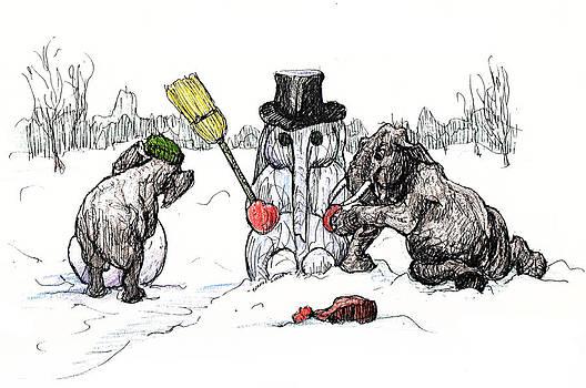 Building a Snow Elephant by Donna Tucker