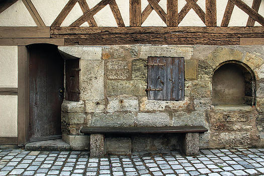 Building and Bench in Rothenberg Germany by Greg Matchick