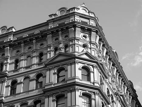 Building Corners - Black and White by Ian Mcadie
