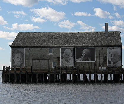 Building on Pier in Provincetown. by Terry Decker