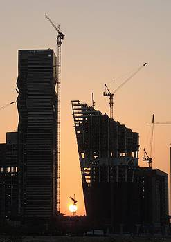 Building Site Sunset by Heather Gordon