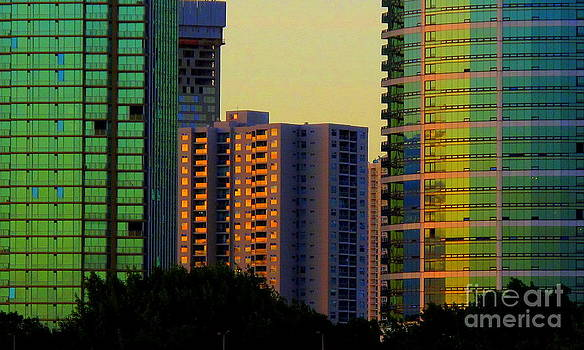 Buildings at Sunset by Ranjini Kandasamy