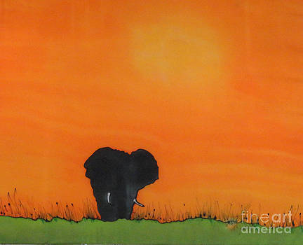 Bull Elephant by Diane Maley
