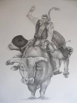 Bull Rider by Pete  Garcia