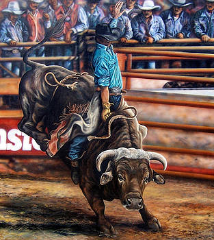 Bull Riding by Glenda Stevens