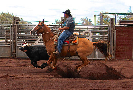 Venetia Featherstone-Witty - Bull Roping at the Rodeo