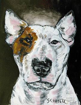 Bull Terrier Angel by Jay  Schmetz