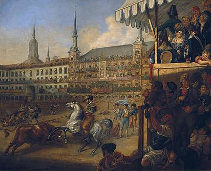 Bullfight In Plaza Mayor Bullfighting by Everett