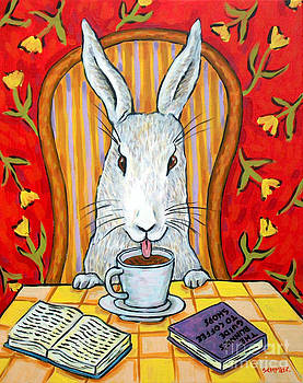 Bunny at the Cafe by Jay  Schmetz