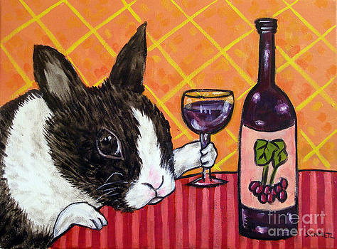 Bunny at the Wine Bar by Jay  Schmetz