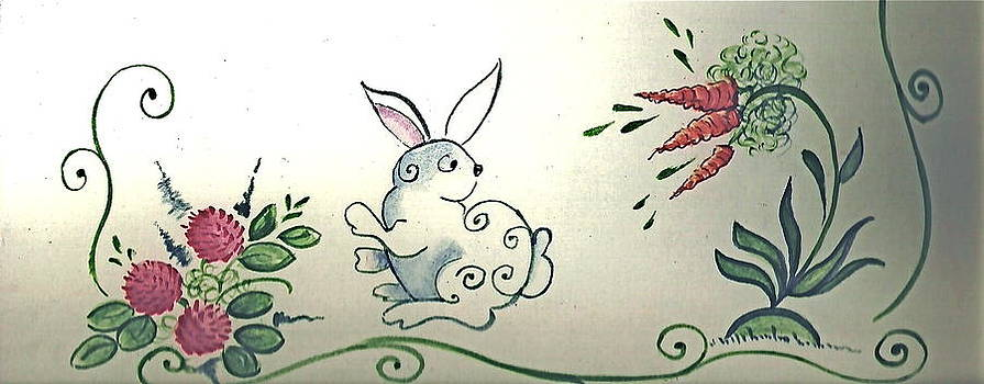 Bunny In The Carrot Patch by Brenda Ruark