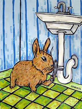 Bunny Plumber by Jay  Schmetz
