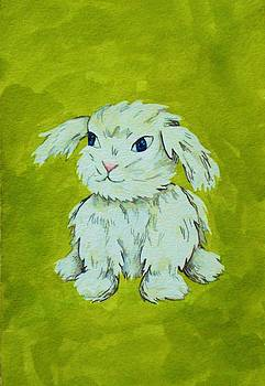 Bunny with Green by Ally Mueller
