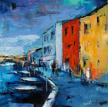 Burano Canal - Venice by Elise Palmigiani