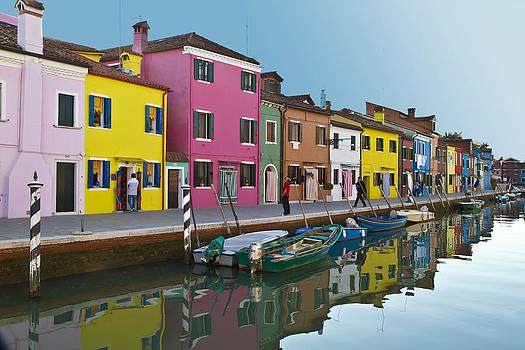 Burano Italy by John Hix