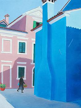 Jan Matson - Burano Venice street scene