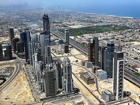 Burj Khalifa Observation Deck View - 02 by Graham Taylor