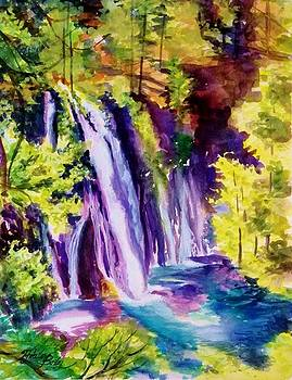 Burney Falls Summer SOLD by Therese Fowler-Bailey