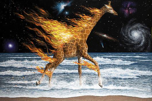 Burning Giraffe by Joe Mckinney