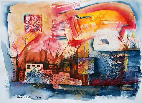 Burning sunset by Zuzana Vass