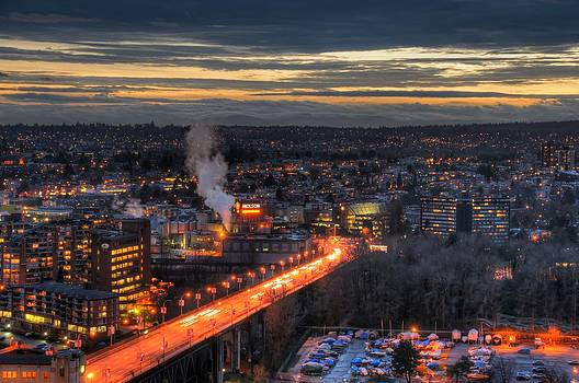 Burrard Street Bridge South by Doug Farmer