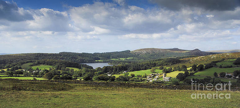 Burrator Reservoir and Sheepstor Village by Donald Davis