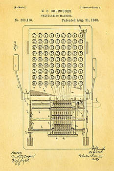 Ian Monk - Burroughs Calculating Machine Patent Art 1888