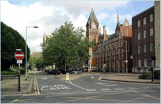 Burton on Trent Town Hall Square by Geoff Cooper