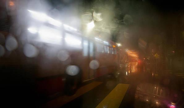 Daniel Furon - Night bus tunnels its way through rain
