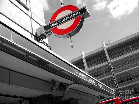 Buses and Underground Splash in Red by Eleni Michael