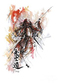 Bushido - samurai warrior. by Mariusz Szmerdt
