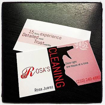 #businesscards For Rosa's #cleaning by Kross Media
