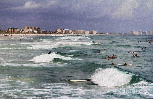 Deborah Benoit - Busy Day In The Surf