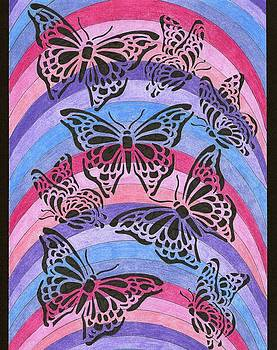 Butterflies and Rainbows by Yvette Pichette