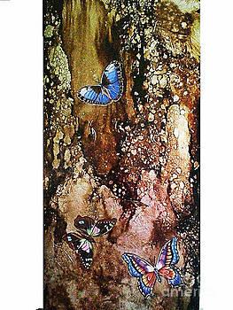 Butterflies In Flight by Nelu Gradeanu