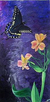 Diane Peters - Butterfly and Flowers
