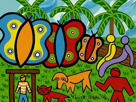 Butterfly Garden by Mike Segal