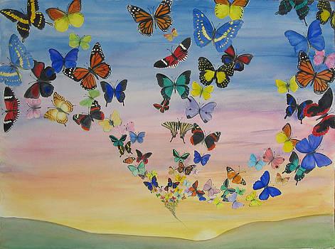 Butterfly Sunrise by Luane Penarosa