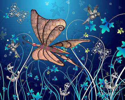 Linda Rae Cuthbertson - Butterfly Under Water Whimsical