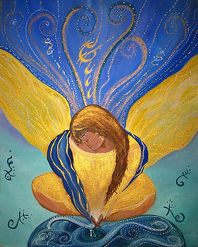 Butterfly Woman the Pearl Maker by Kelley Springer
