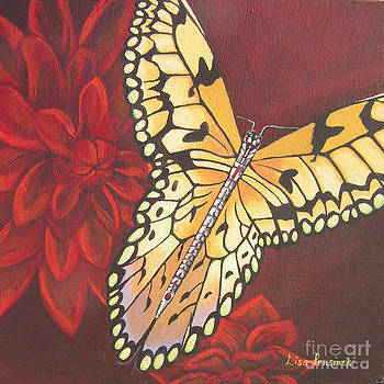 Butterfly Wrapped in Red by Lisa Prusinski