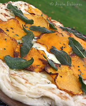 Annie Babineau - butternut squash and crispy sage grilled pizza