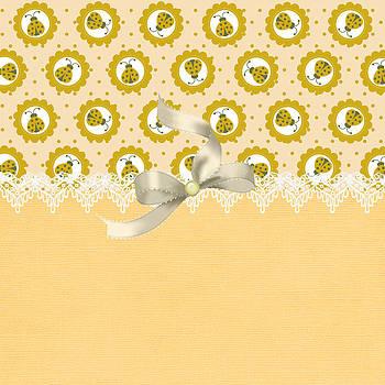 Fancy Yellow Ladybugs by Debra  Miller