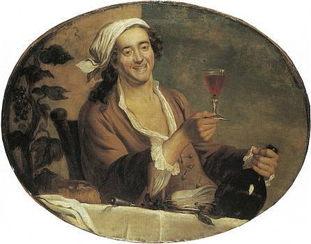 Buveur de vin by Etinne Jeaurat