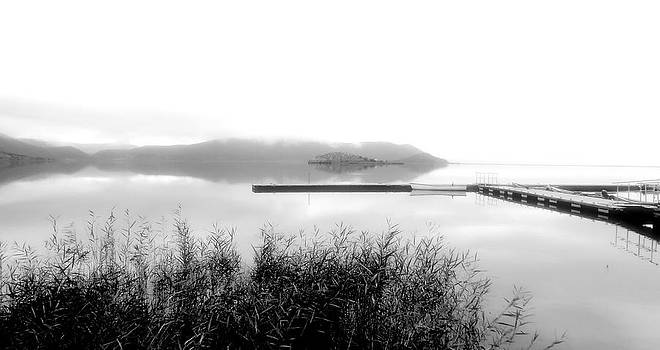 Ioanna Papanikolaou - bw lake view