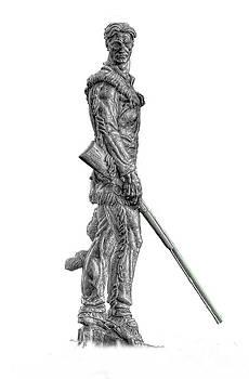 Dan Friend - BW of Mountaineer Statue