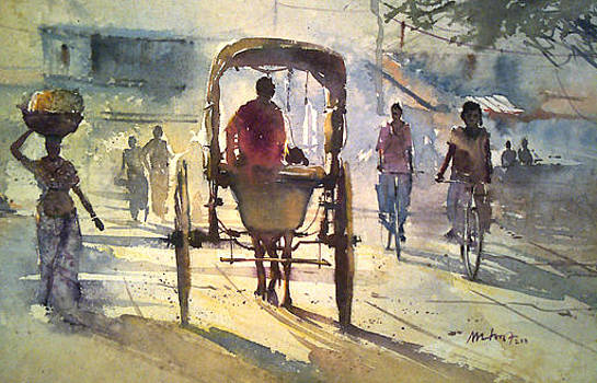 Bycycles by Mohan Watercolours