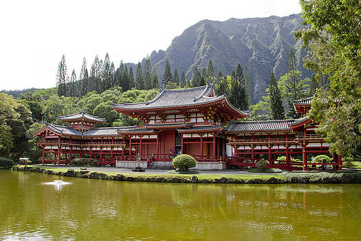 Byodo Temple and Pond by Ashlee Meyer