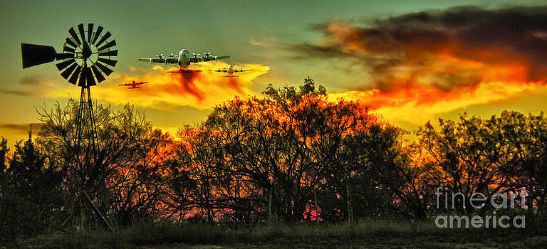 Wildfire C-130  by Robert Frederick